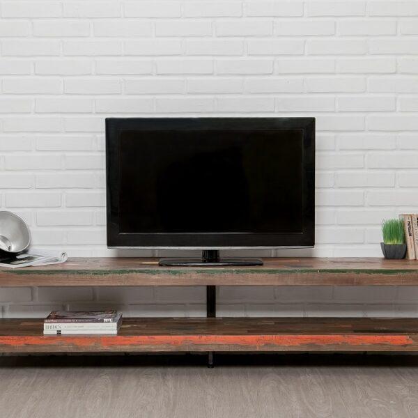 meuble TV bois métal