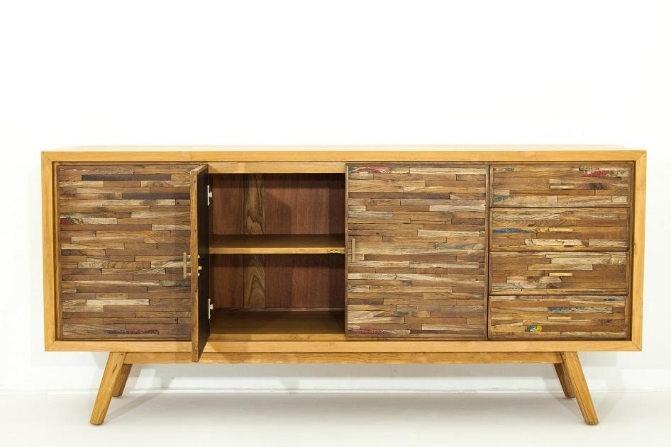 meuble Tv bois recyclé