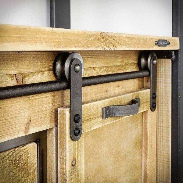 Etagère style industriel bois 80