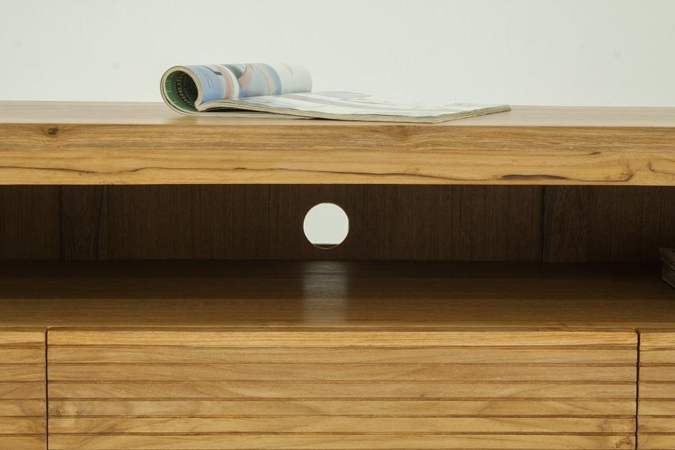 Grand meuble TV bois brut