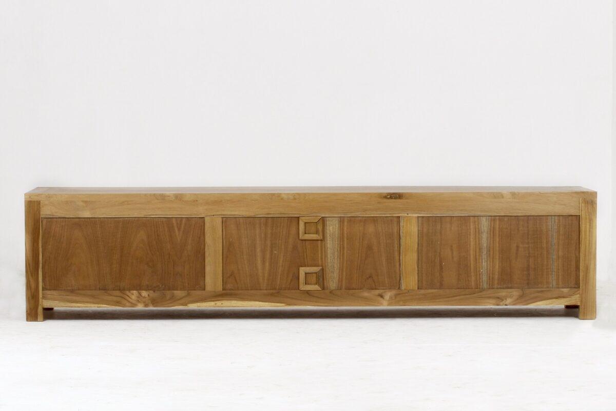 meuble TV bois brut cubique