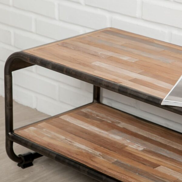 meuble TV bois métal recyclé