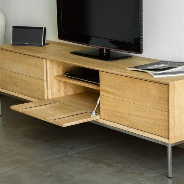 meuble TV bois cubique