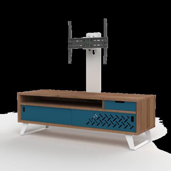 Meuble TV design bois avec colonne