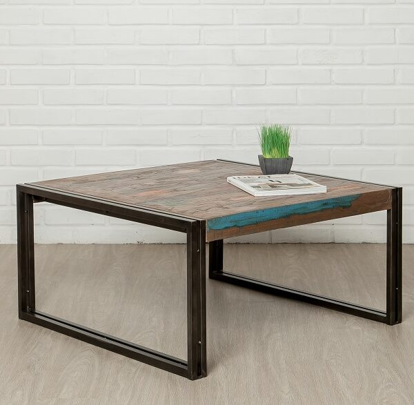 Table basse bois carrée