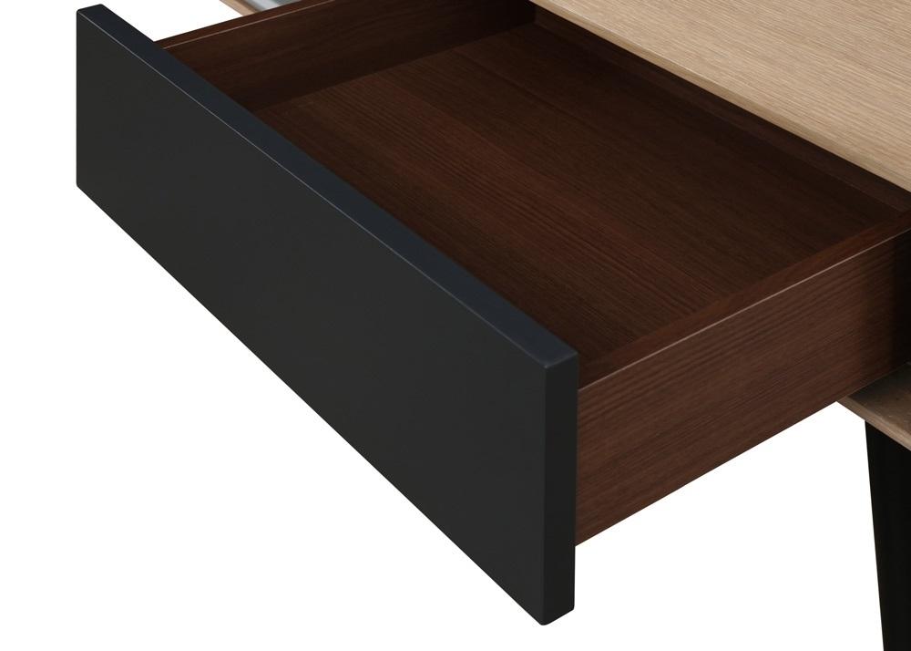 Table basse chêne et noir