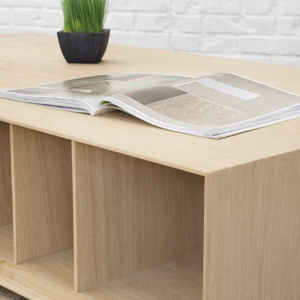 Table basse bois contemporaine