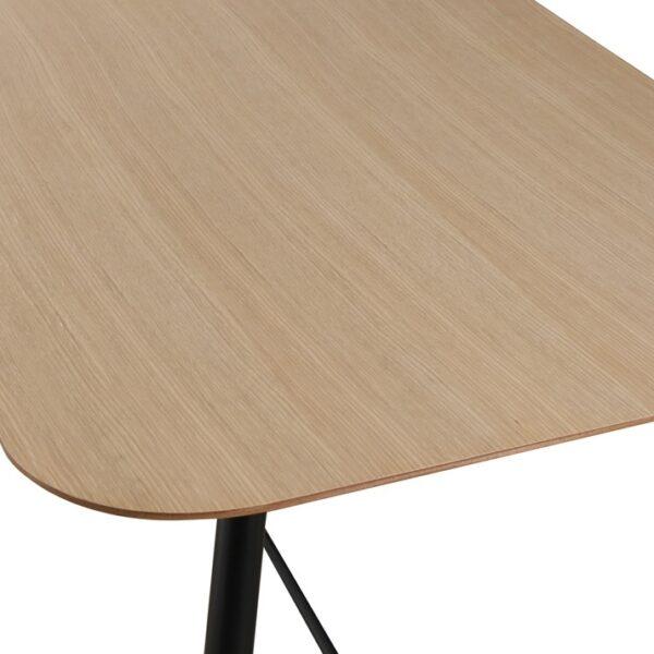 Table design Chêne et noir