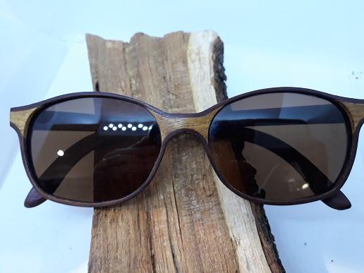 lunettes de soleil en bois chêne