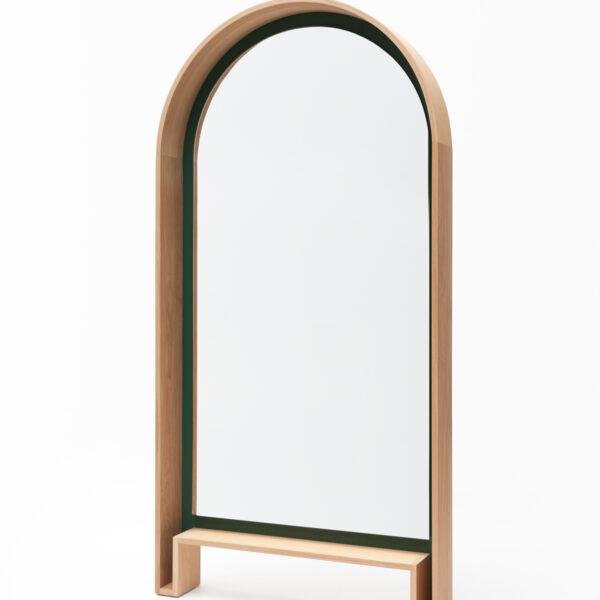 miroir sur pied bois