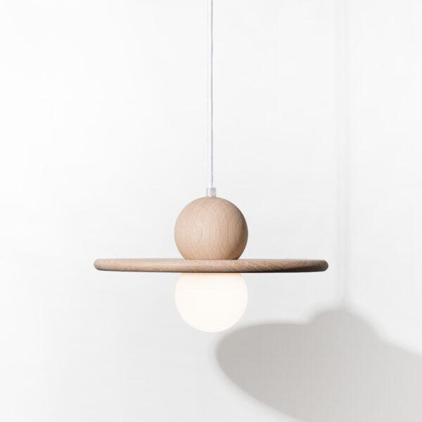 Suspension luminaire bois