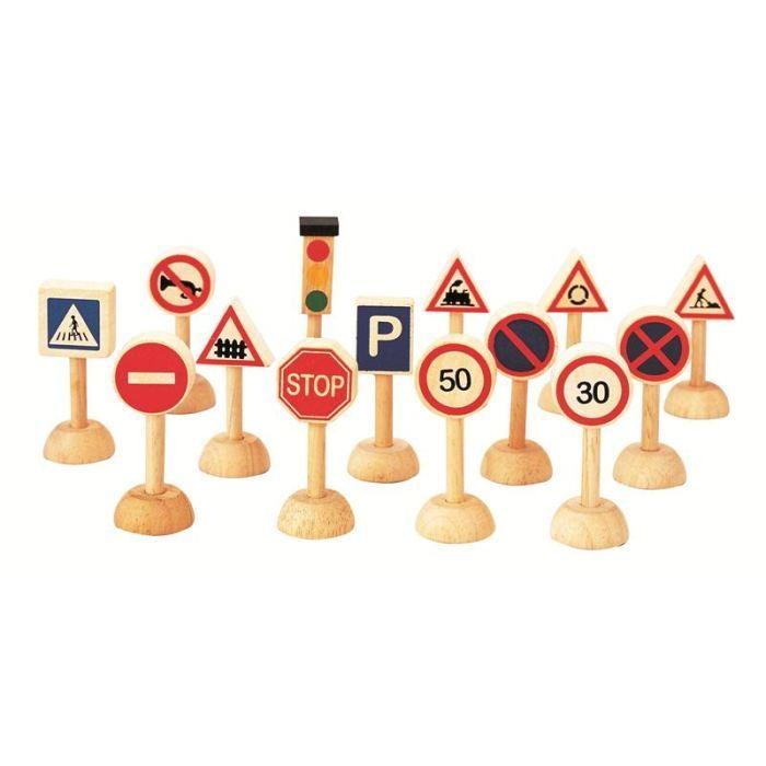 panneaux de signalisation en bois