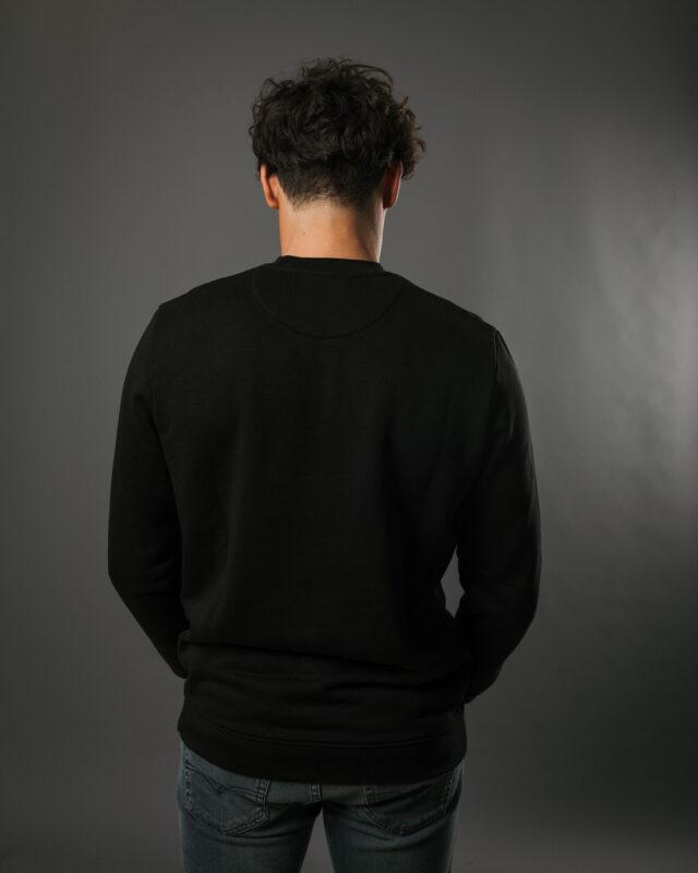 Sweatshirt en fibre bois noir - logo rouge