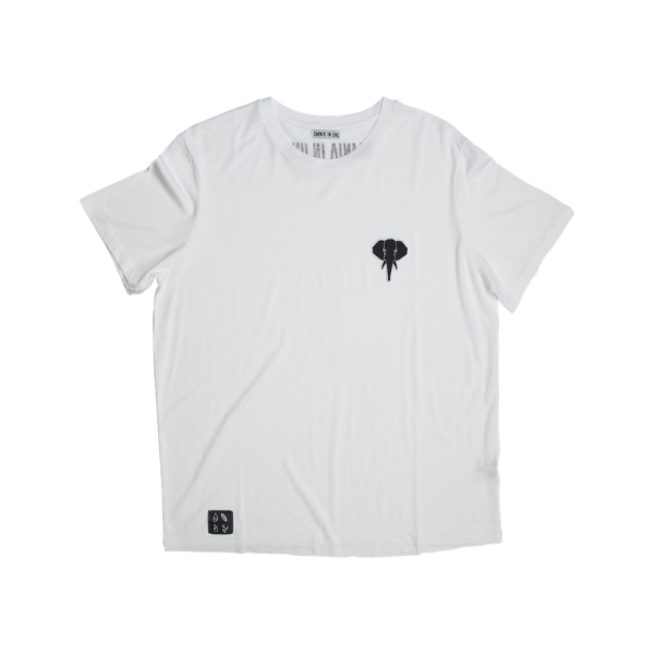 Tee shirt en fibre de bois blanc