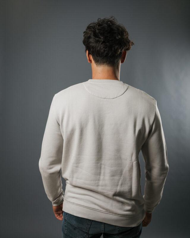 Sweatshirt fibre de bois gris