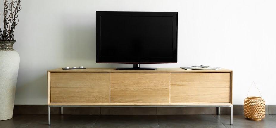 meuble tv en chêne