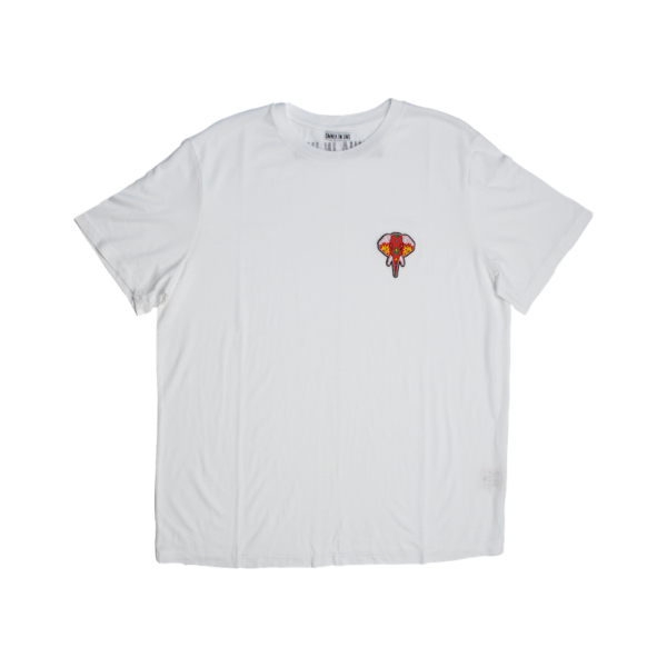 Tee shirt fibre de bois blanc - logo rouge