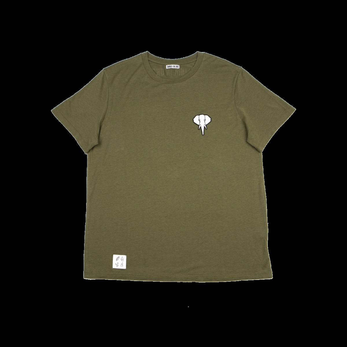 Tee shirt en fibre de bois kaki - logo blanc