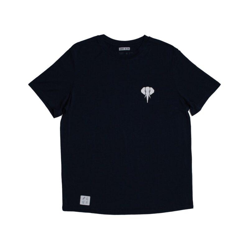 Tee shirt fibre de bois bleu marine